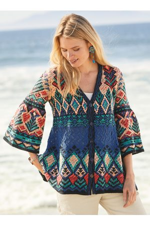 Peruvian Connection Women Cardigans - Aegean Pima Cotton Cardigan