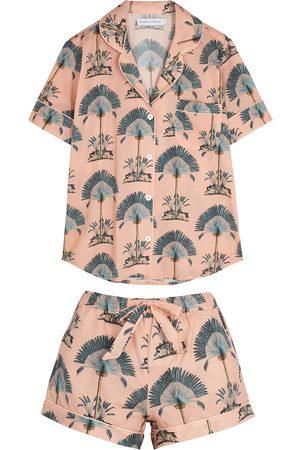 Desmond & Dempsey Women Pajamas - Ravenala printed cotton pyjama set