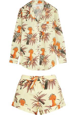 Desmond & Dempsey Women Pajamas - Marginata printed cotton pyjama set