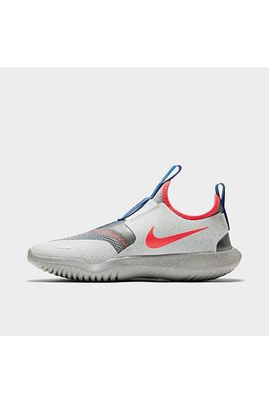 Nike Sports Shoes - Big Kids' Flex Runner SE Running Shoes in Grey/Particle Grey Size 3.5 Leather