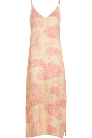 Desmond & Dempsey Women Nightdresses & Shirts - Lowland Forest printed linen nightdress