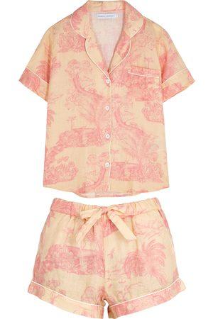 Desmond & Dempsey Women Pajamas - Lowland Forest printed linen pyjama set