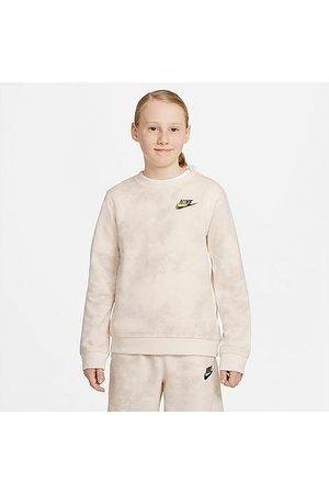 Nike Sports Hoodies - Kids' Sportswear Magic Club Crewneck Sweatshirt in Off- /Pale Ivory Size Small Cotton/Polyester/Spandex