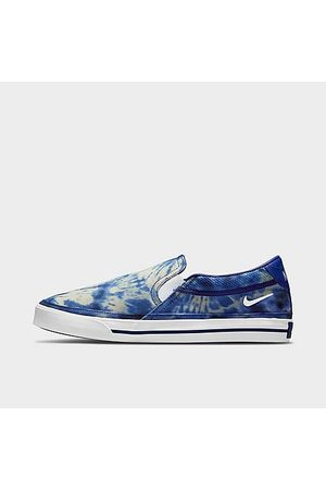 Nike Men Casual Shoes - Men's Court Legacy Tie-Dye Slip-On Casual Shoes in /Multi-Color Size 8.0 Canvas