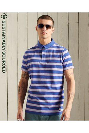 Superdry Men Polo Shirts - Organic Cotton Academy Stripe Polo Shirt