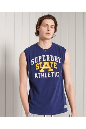 Superdry Men Tank Tops - Track and Field Graphic Tank Top