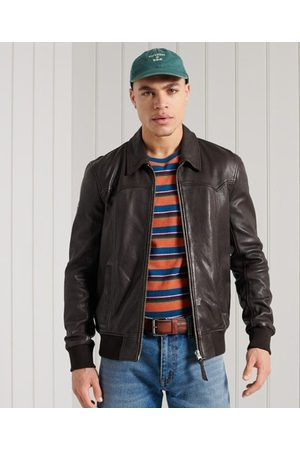 Superdry Leather Indie Club Jacket