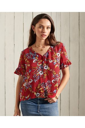 Superdry Short Sleeve Textured Lace Top