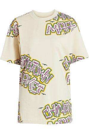 Chinatown Market Women Sports T-shirts - Women's Creature Graphic T-Shirt - Bone - Size XL