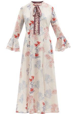 LE SIRENUSE, POSITANO Tracey Spring Flowers-print Cotton Dress - Womens - Print