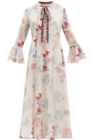 LE SIRENUSE, POSITANO Women Printed Dresses - Tracey Spring Flowers-print Cotton Dress - Womens - Print