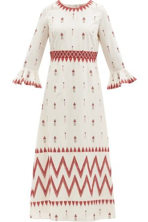 LE SIRENUSE, POSITANO Women Printed Dresses - Tracey Floral-embroidered Cotton Dress - Womens - Light