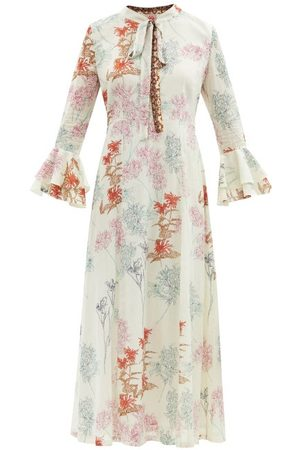 LE SIRENUSE, POSITANO Tracey Flowers-print Cotton Dress - Womens - Print