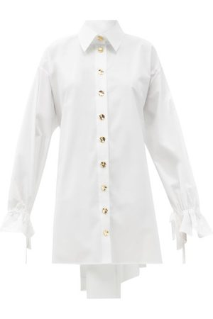 Women Casual Dresses - Halpern - Tie-cuff Cotton-poplin Shirt Dress - Womens