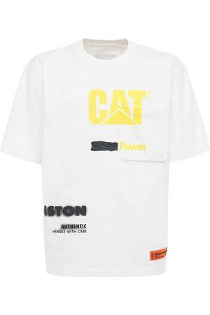 Heron Preston Cat Printed Cotton Jersey Over T-shirt