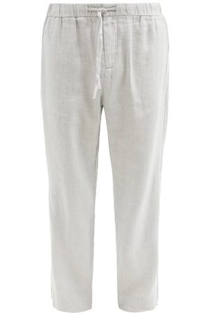 Frescobol Carioca Oscar Linen-blend Wide-leg Chino Trousers - Mens - Grey