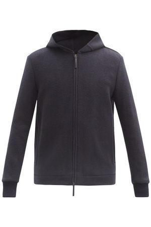 GABRIELA HEARST Holden Zipped Cashmere Hooded Sweatshirt - Mens - Navy