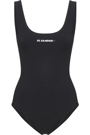Jil Sander Printed Logo One Piece Swimsuit