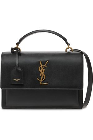 Saint Laurent Medium Sunset Leather Satchel Bag