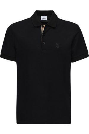 Burberry Cotton Piqué Polo Shirt W/ Check Detail