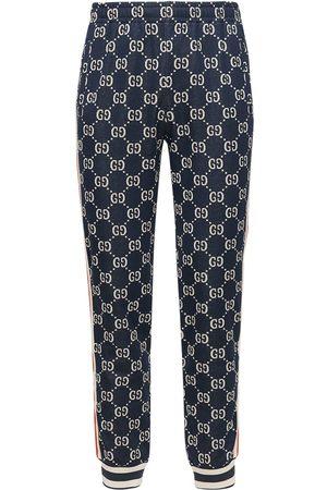 Gucci Gg Supreme Cotton Jacquard Sweatpants