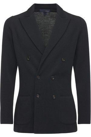 LARDINI Men Blazers - Double Breasted Wool Jacket