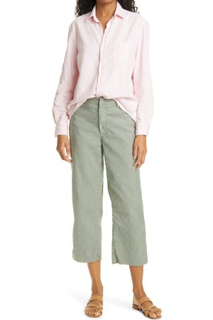 FRANK & EILEEN Women's Kinsale Performance Cotton & Linen Crop Pants
