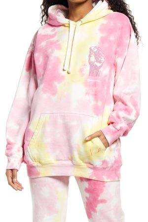 Cross Colours Women's Power To The People Tie Dye Graphic Hoodie