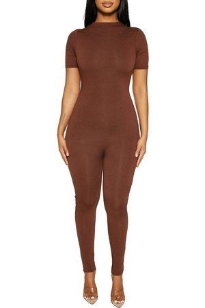 Naked Wardrobe Women's Sweet T Funnel Neck Jumpsuit