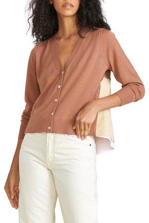 VERONICA BEARD Women's Liatris Mixed Media Merino Wool & Cotton Cardigan