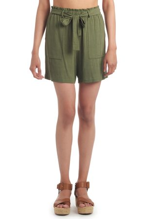 Everly Grey Women's Shelly High Waist Paperbag Shorts