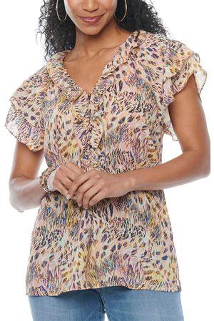Wit & Wisdom Women's Flutter Sleeve Blouse