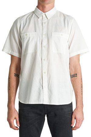 NEUW Men's Waits Short Sleeve Linen Blend Button-Up Shirt