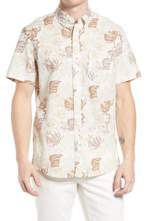 Treasure & Bond Men's Trim Fit Floral Short Sleeve Button-Down Shirt