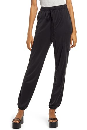 Open Edit Women's Knit Cargo Joggers