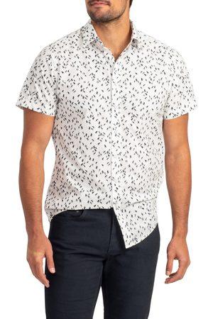 Rodd & Gunn Men's Richmond Bay Sports Fit Sailboat Print Short Sleeve Button-Up Shirt
