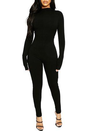 Naked Wardrobe Women's All Body Long Sleeve Jumpsuit