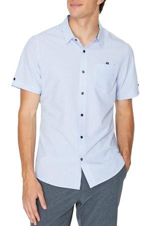 7 Diamonds Men's Higher Love Short Sleeve Button-Up Performance Shirt