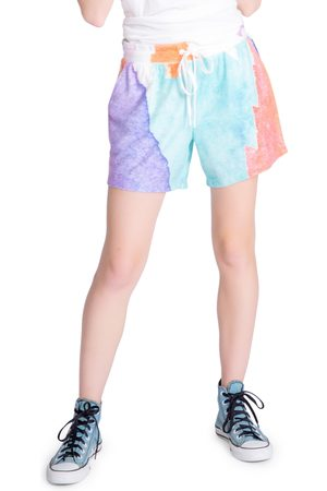 P.J.Salvage Women's Art Tie Dye Shorts