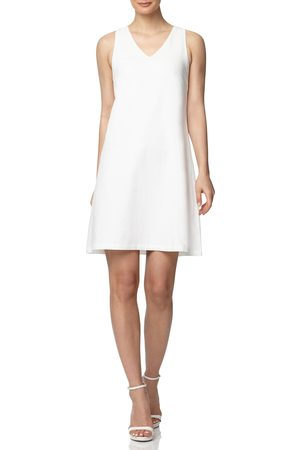 Anne Klein Women's Sleeveless A-Line Linen Minidress
