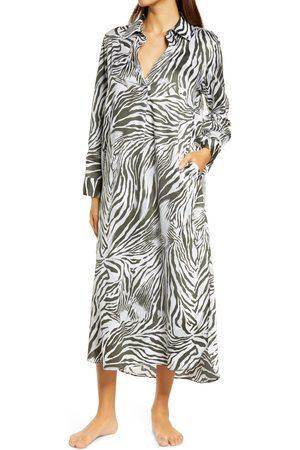 Natori Women's Zebra Print Cotton Nightshirt