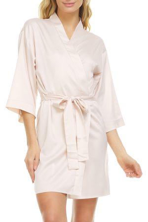 Flora Nikrooz Women's Victoria Satin Short Robe