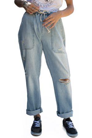 Fidelity Denim Women's Fidelity Jasper High Waist Ripped Jogger Jeans
