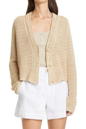 Vince Women's Crochet Cotton Cardigan