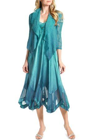 Komarov Women's Embellished Midi Dress With Jacket