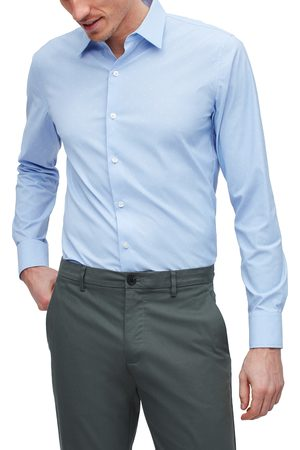 BONOBOS Men's Slim Fit Dot Button-Up Performance Shirt