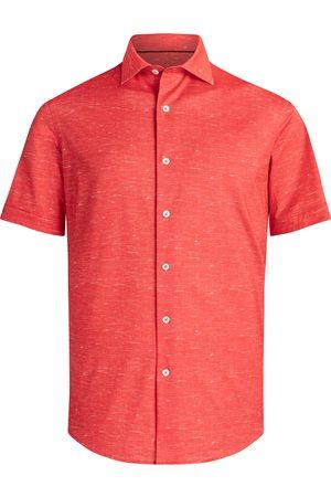 Bugatchi Men's Regular Fit Knit Short Sleeve Shirt