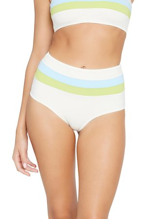 L*Space Women's Portia Reversible High Waist Stripe Bikini Bottoms