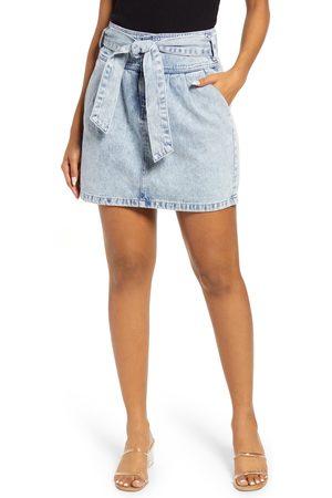 VERO MODA Women's Katie High Waist Bow Denim Miniskirt