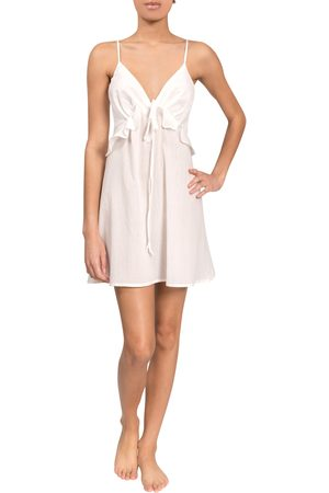 EVERYDAY RITUAL Women's Isabelle Tie-Front Chemise